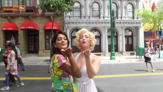 Take a close look at your favorite Hollywood Star Marilyn Monroe in Universal Studios Singapore