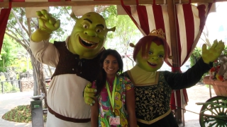 Far far away is a fun kid zone in Universal Studios where you meet Shrek, his lovely wife Fiona